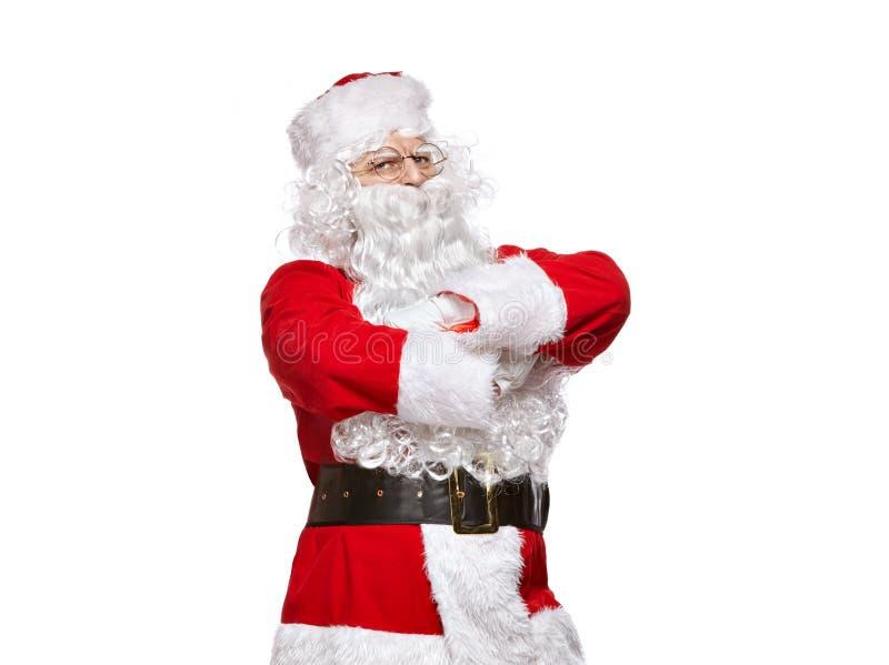Papai Noel isolou-se no fundo branco imagem de stock