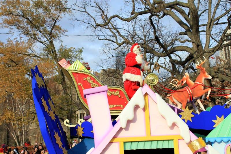 Papai Noel na parada do Natal em Toronto fotos de stock