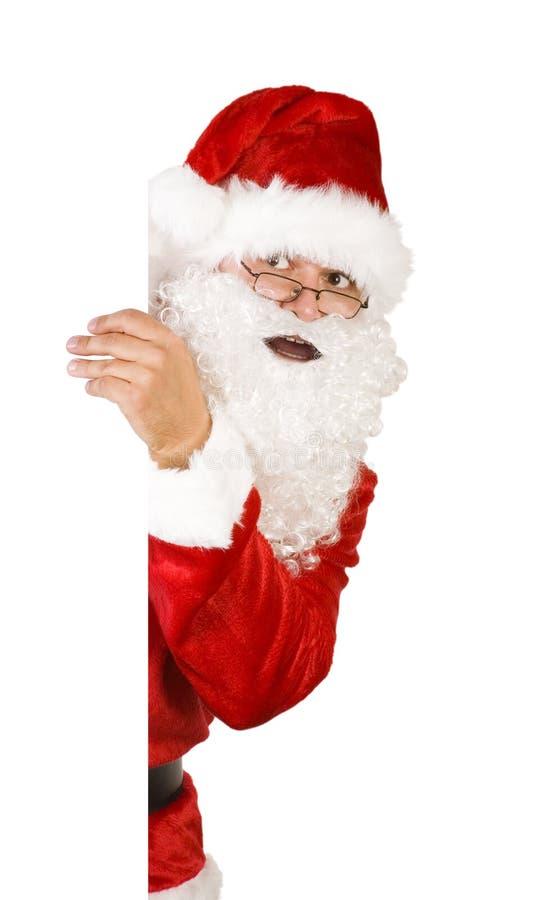 Papai Noel no branco com trajeto foto de stock royalty free