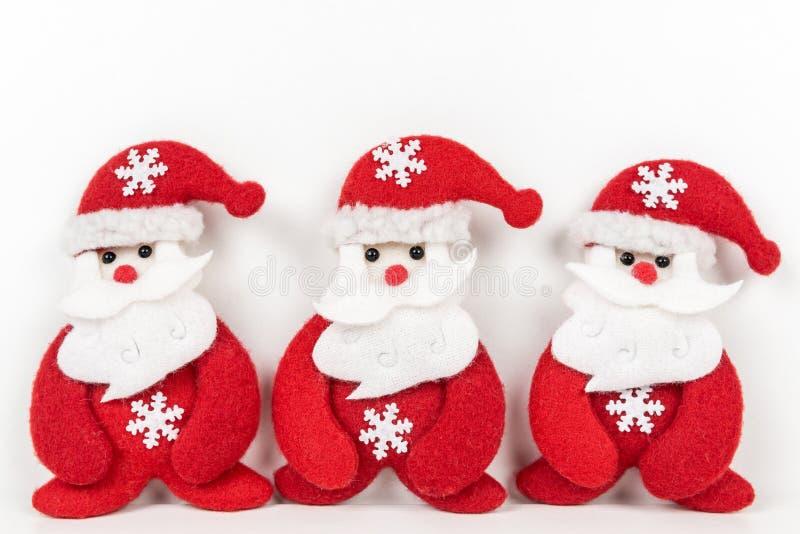 Papai Noel no fundo branco foto de stock