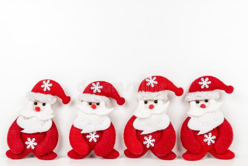 Papai Noel no fundo branco fotografia de stock