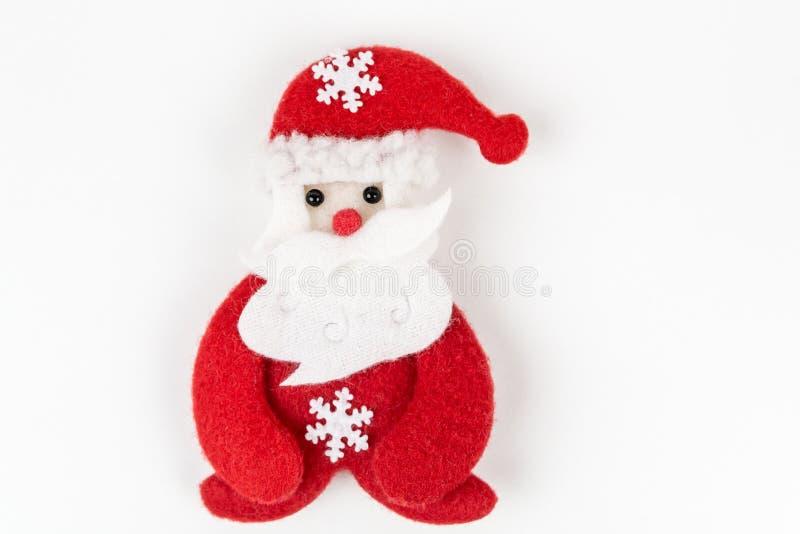 Papai Noel no fundo branco fotos de stock