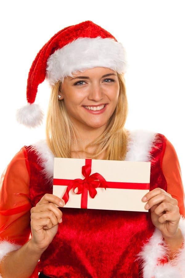 Papai Noel no Natal com presentes. imagem de stock royalty free