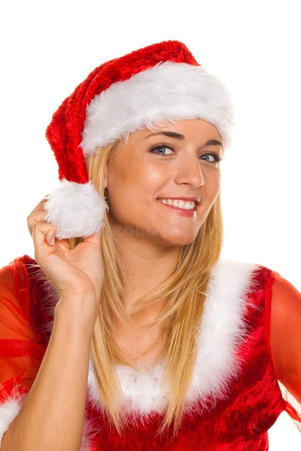 Papai Noel no Natal com presentes. imagem de stock