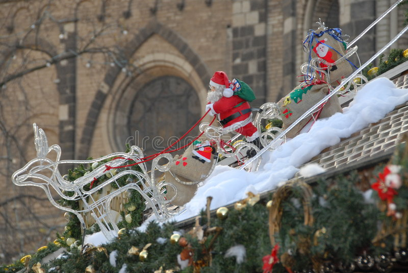 Papai Noel no sledge imagem de stock royalty free