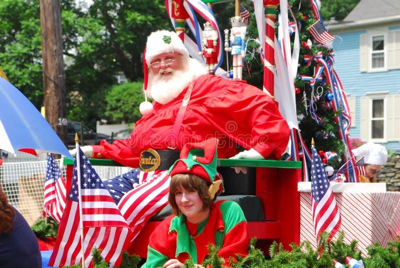 Papai Noel patriótico imagem de stock royalty free