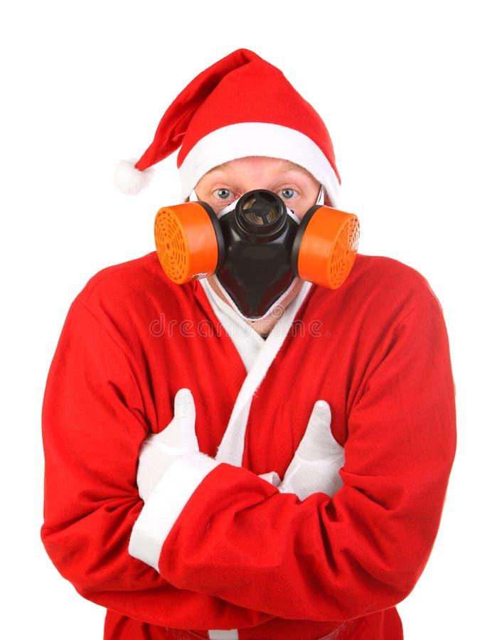 Papai Noel protege dentro a máscara fotos de stock royalty free