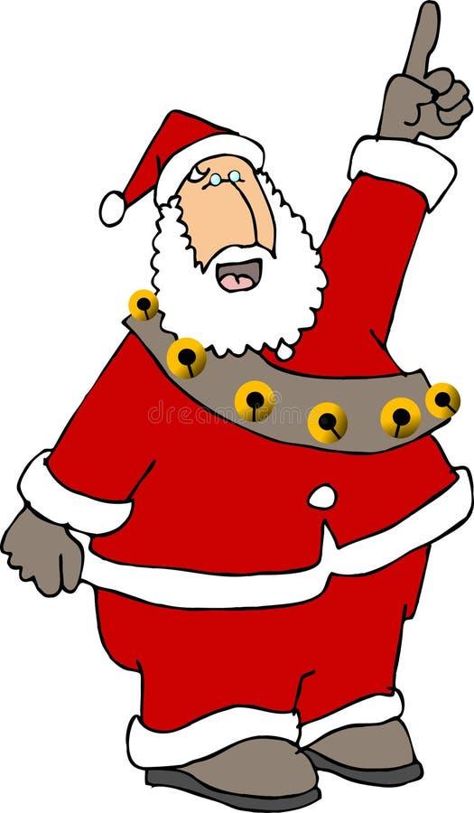 Papai Noel que aponta acima ilustração royalty free