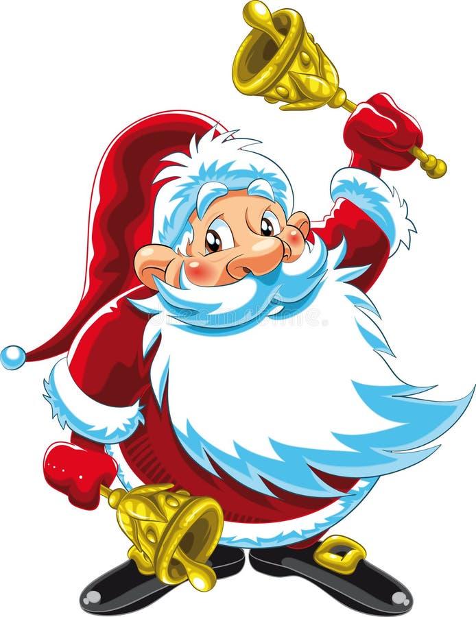 Papai Noel que joga Bels ilustração royalty free