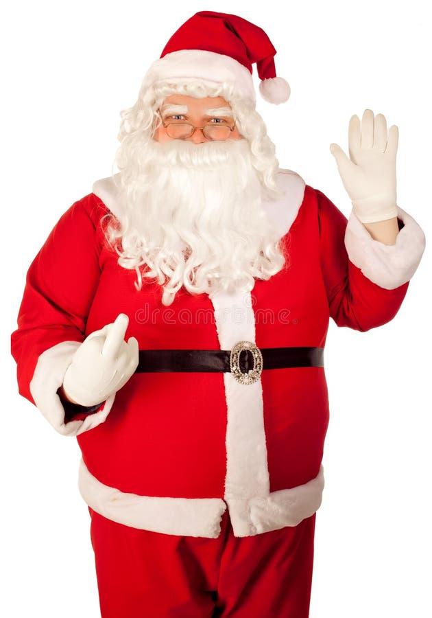 Papai Noel ruim, gesto ruim imagens de stock
