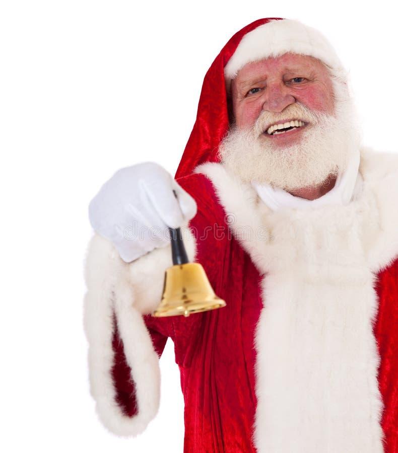 Papai Noel soa o sino imagem de stock royalty free