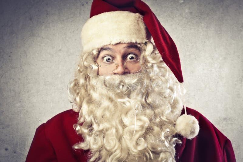 Papai Noel surpreendido fotografia de stock royalty free