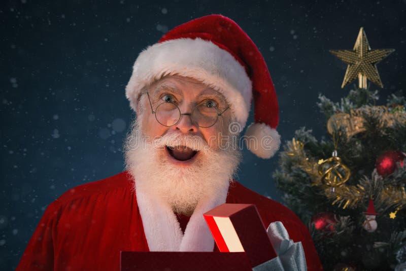 Papai Noel surpreendido foto de stock