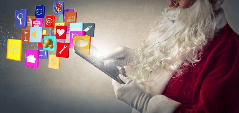 Papai Noel tecnológico foto de stock