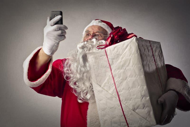 Papai Noel tecnológico fotografia de stock