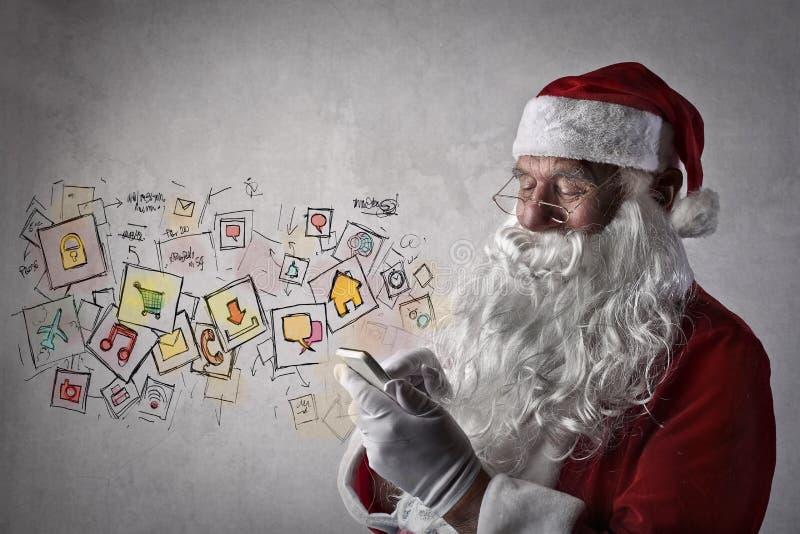 Papai Noel tecnológico imagem de stock royalty free