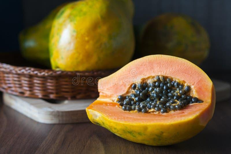 papaia fotografie stock libere da diritti