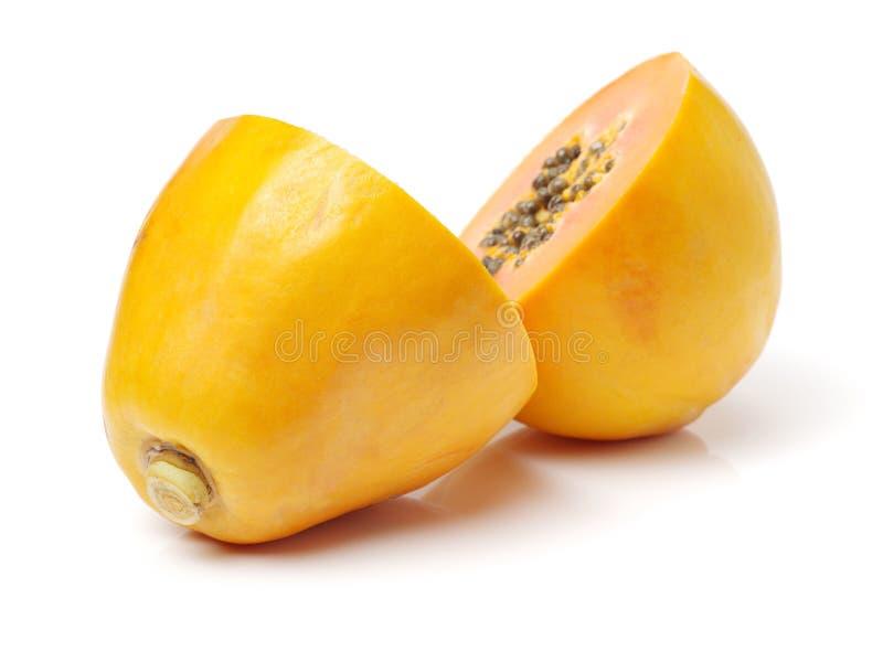 Papaia fresca do rasgo imagens de stock royalty free