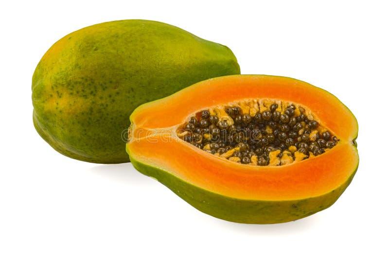 Papaia fresca e saboroso imagens de stock royalty free