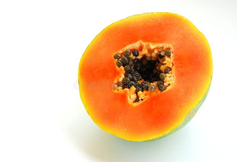 Papaia rossa fotografia stock libera da diritti