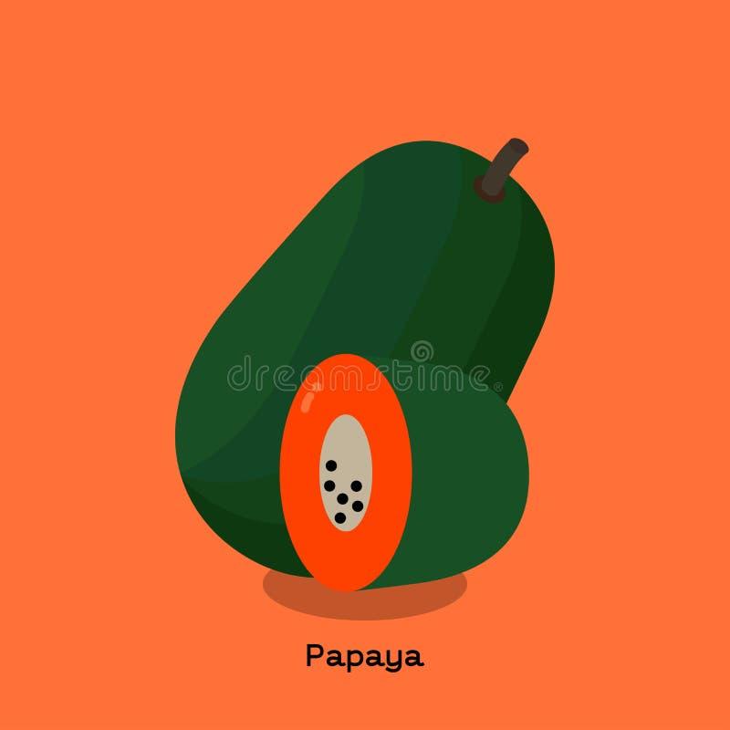 papaja vector illustratie