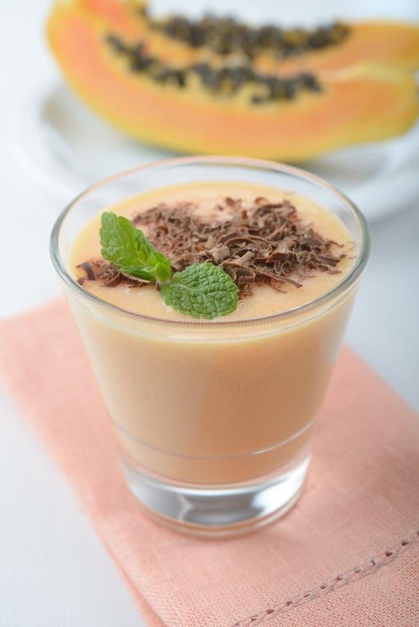 Papaja smoothie royalty-vrije stock foto's
