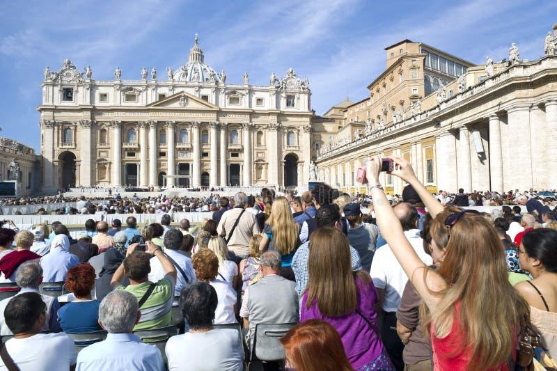Papal Audience stock photo