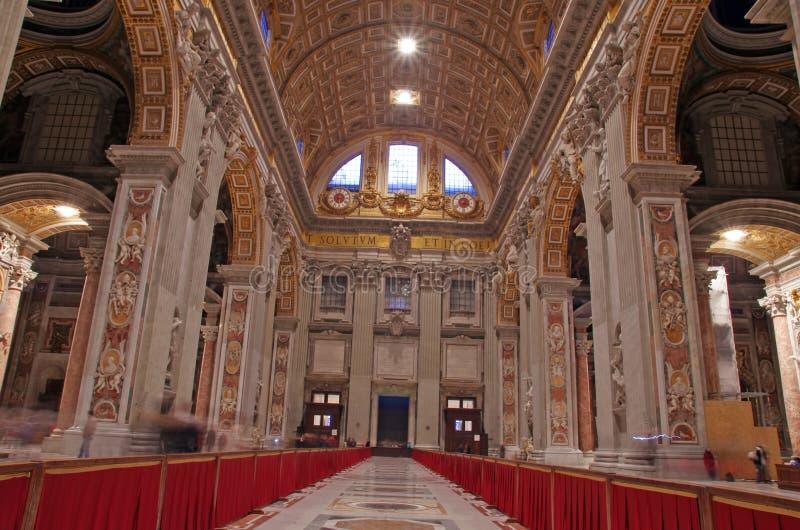 Papal basilica. In Vatican City, Saint Peter Basilica stock images