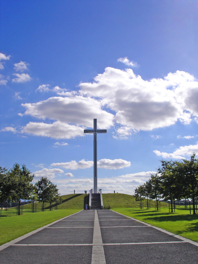 Papal Cross. In the Phoenix Park, Dublin, marking Pope John Pauls visit to Ireland royalty free stock images