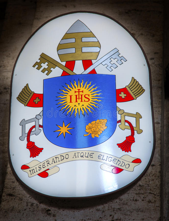 Papal Symbol Santa Maria Della Pace Church Rome Italy stock photos