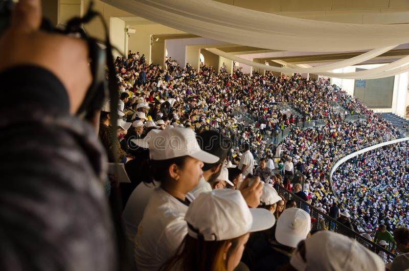 Papal visit in Abu Dhabi stock images