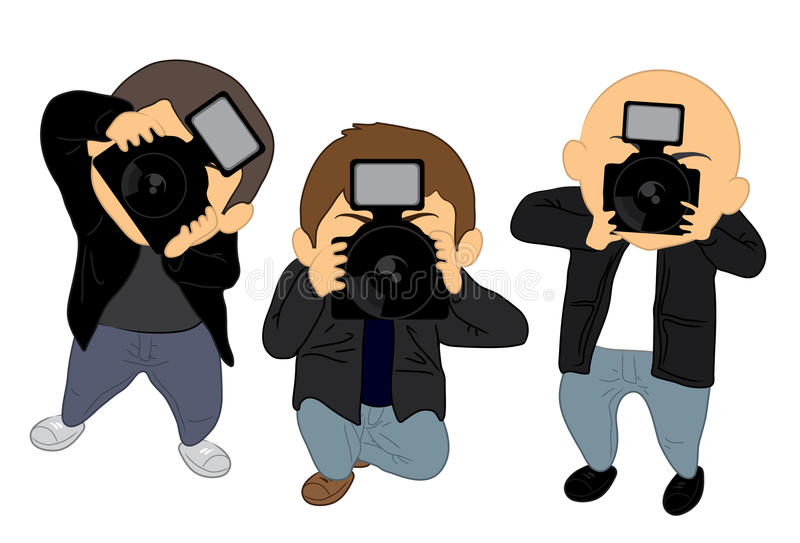 paparazzi royaltyfri illustrationer