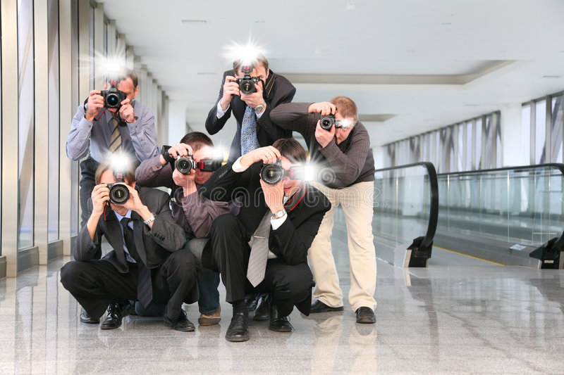 Paparazzi photo stock