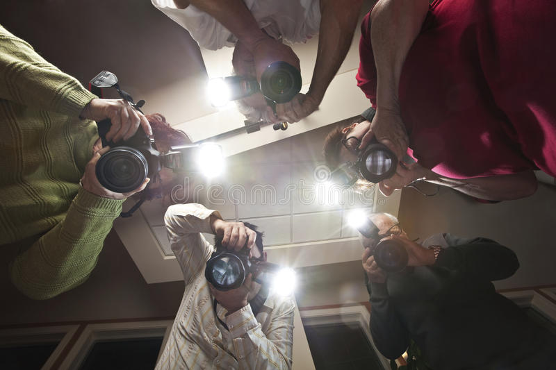 Paparazzi Photographers stock photography