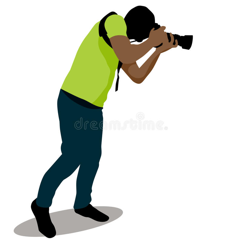 download paparazzi taking photo stock vector image 50616730