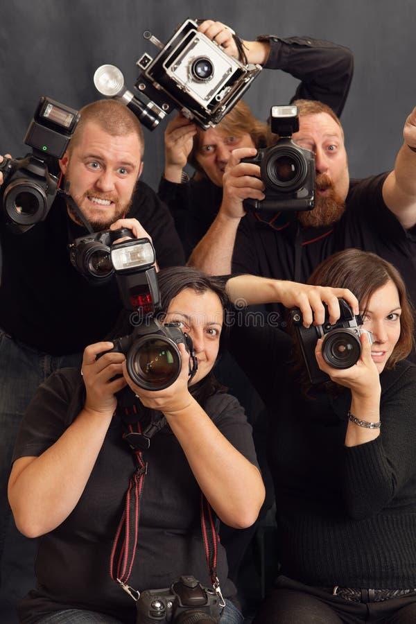 Paparazzis stockbilder