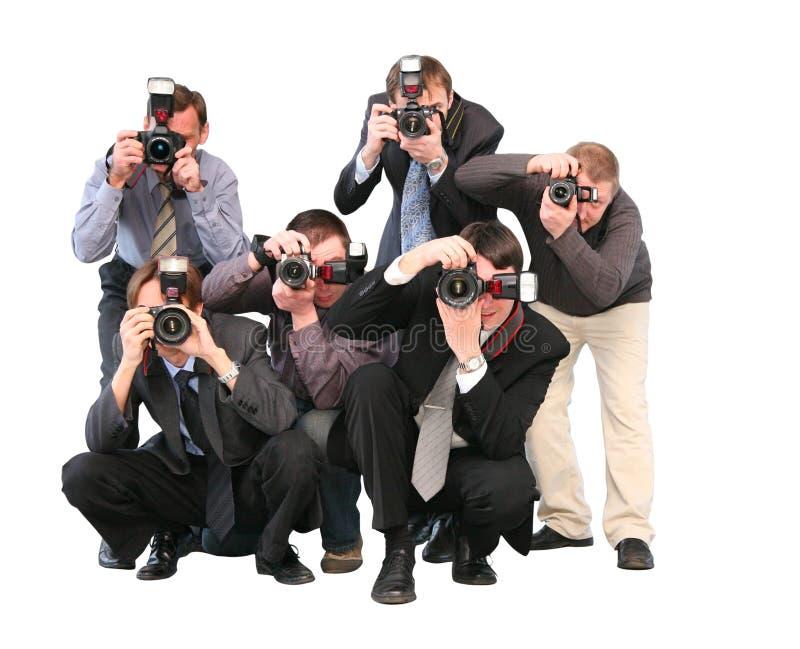 Paparazzis fotos de archivo