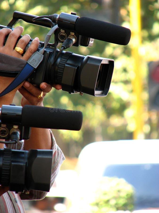 Paparrazi Kameras stockfotos