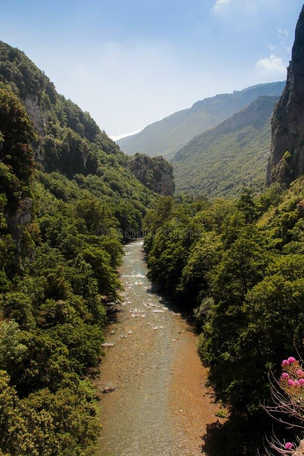 Papasidero Cosenza Valle del Fiume Lao Parco nazionale del Pol. royalty-vrije stock afbeeldingen