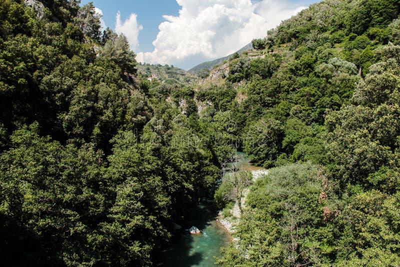 Papasidero Cosenza Valle del Fiume Lao Parco nazionale del Pol. stock afbeeldingen