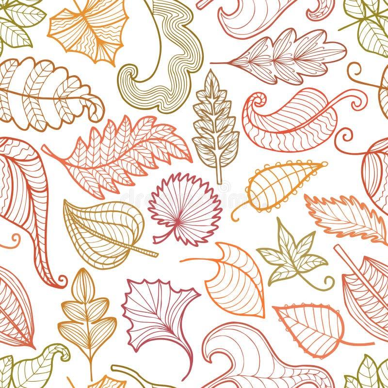 Papattern de hojas decorativas ilustración del vector