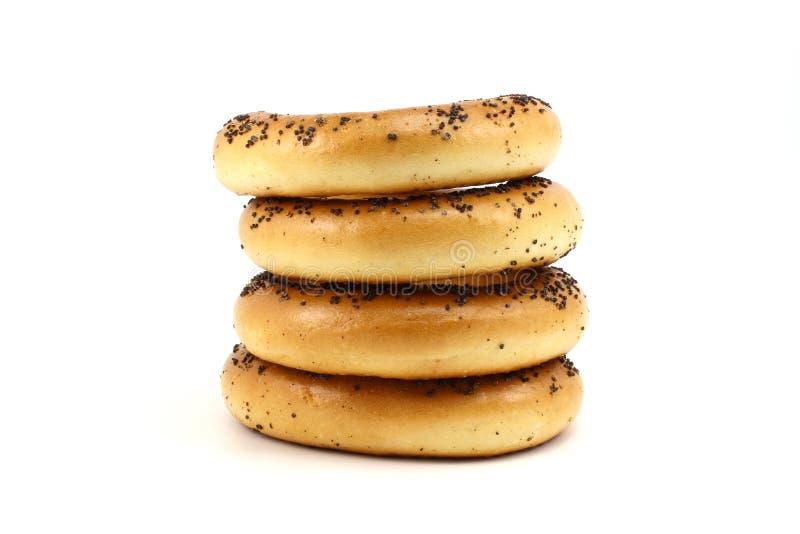 Papaverongezuurde broodjes stock foto's