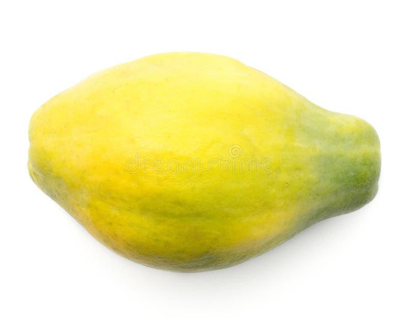 Papaya που απομονώνεται πράσινο στοκ φωτογραφία
