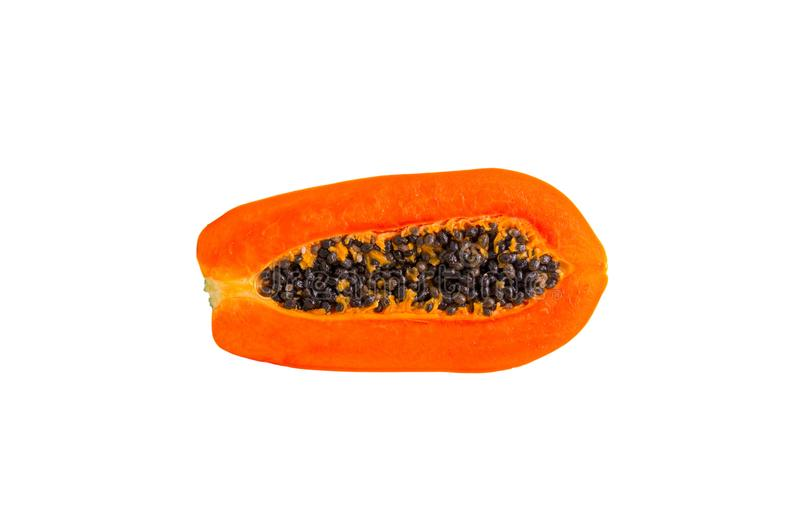 Papaya φρούτα που απομονώνονται στο άσπρο υπόβαθρο Φέτες γλυκό papaya που απομονώνεται στο άσπρο υπόβαθρο, στοκ φωτογραφία με δικαίωμα ελεύθερης χρήσης