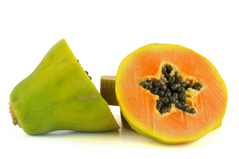 papaya arkivfoton