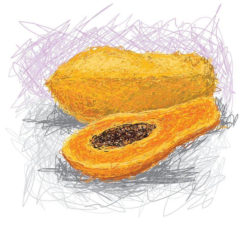 Papaya ilustración del vector