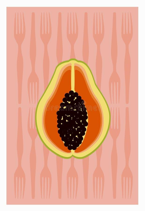 papaya διανυσματική απεικόνιση
