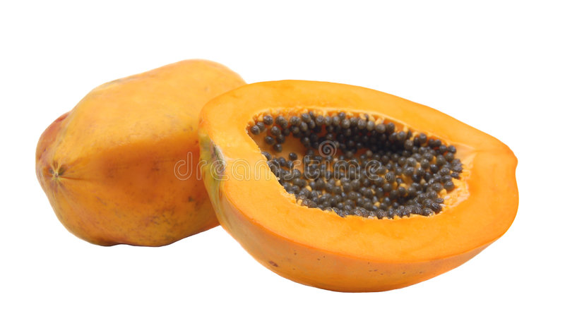 Papaya stockfotos