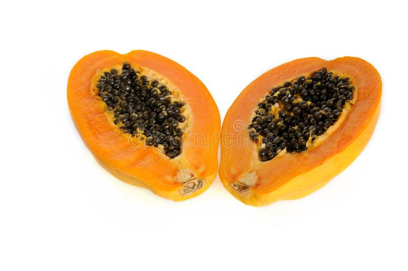 Papaya fruit stock image