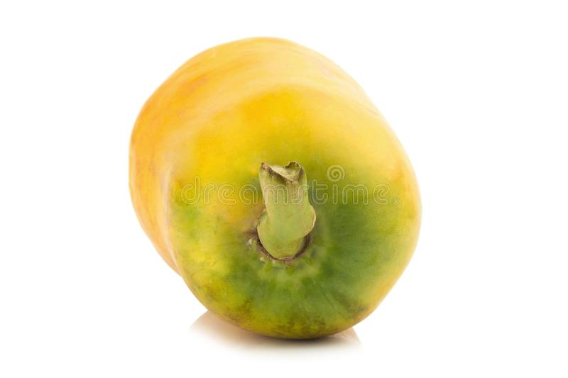 papaya fruit. closeup rear part. color orange. asian. isolated royalty free stock photos